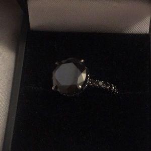 Sex and the City Genuine Black Diamond 18k Ring